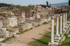 Fördärvar av gammalgrekiskan och romarestaden av Sardis Arkivfoton