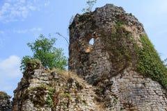 Fördärvar av gammalgrekiskaslotttorn i nya Athos Abkhazia Royaltyfri Bild