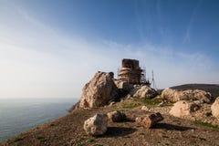 Fördärvar av Genoese Cembalofästning balaklava crimea royaltyfria foton