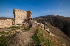 Fördärvar av Genoese Cembalofästning balaklava crimea royaltyfri bild