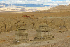 Fördärvar av gugedynasti i Tibet Royaltyfri Fotografi