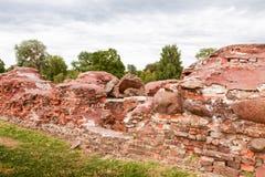 Fördärvar av historisk fästning Arkivbilder