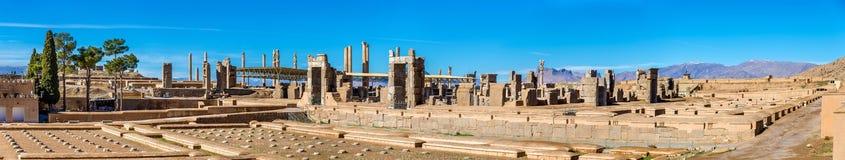 Fördärvar av imperialistisk kassa på Persepolis, Iran Royaltyfri Bild