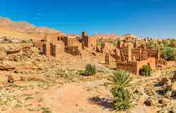 Fördärvar av Kasbah i Tinghir, Marocko Royaltyfri Fotografi