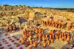 Fördärvar av Kourion i Cypern Arkivbild