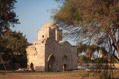 Fördärvar av kyrkan av St Nicholas i den gamla Famagustaen Arkivfoto