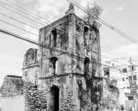 Fördärvar av kyrkan av vår dam av befruktningen, Guarapari, tillstånd av EspÃrito Santo, Brasilien Royaltyfri Fotografi