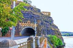 Fördärvar av Libuses bad med tunnelen, Prague, Tjeckien arkivbilder