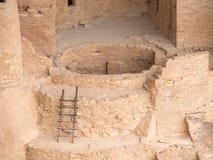 Fördärvar av Mesa Verde, Colorado byggnader Arkivfoto