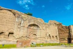 Fördärvar av Palestra (eller Palaestra) i de forntida roman baden av Caracalla (Thermae Antoninianae) Royaltyfri Bild
