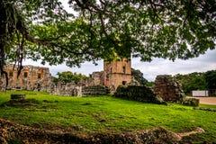 Fördärvar av Panama Viejo - Panama City, Panama Royaltyfri Bild