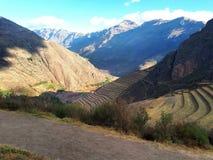 Fördärvar av Pisac, Cusco, Peru Royaltyfria Bilder