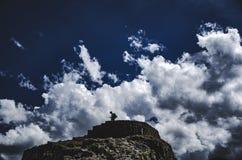 Fördärvar av Pisaq, Cusco, Peru Arkivfoton