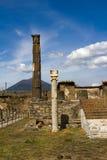 Fördärvar av Pompei Royaltyfri Fotografi