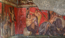 Fördärvar av Pompei, nära Naples, Italien Royaltyfria Foton
