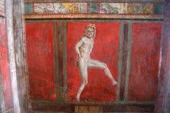 Fördärvar av Pompei, nära Naples, Italien Royaltyfri Fotografi