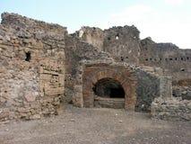 Fördärvar av Pompeii, begravd romersk stad nära Naples Royaltyfri Bild