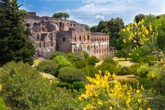 Fördärvar av Pompeii, Italien Royaltyfri Bild