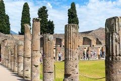 Fördärvar av Pompeii, Italien Arkivbilder