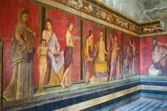 Fördärvar av Pompeii, Italien Royaltyfri Foto