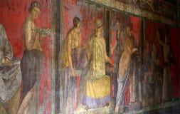 Fördärvar av Pompeii, nära Naples, Italien Arkivfoto