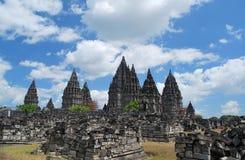 Fördärvar av Prambanan Candi Arkivbild