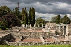 Fördärvar av Roman Aquincum, Budapest, Ungern Royaltyfria Bilder