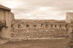 Fördärvar av Rupea Reps fästningen, Transylvania, Rumänien Royaltyfri Fotografi