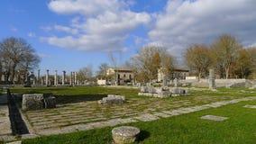 Fördärvar av Saepinum (Altilia), Molise, Italien Arkivfoton