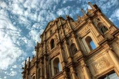 Fördärvar av Sao Paolo Macau Arkivbild