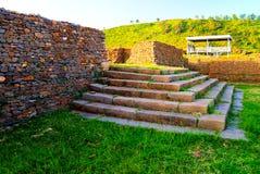 Fördärvar av slotten för drottningen Sheba, Axum, Etiopien Fotografering för Bildbyråer