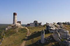 Fördärvar av slotten i Olkusz Royaltyfri Foto