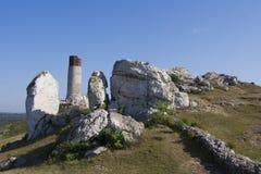 Fördärvar av slotten i Olkusz Royaltyfria Foton