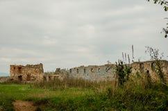 Fördärvar av slotten Pnivskyy Arkivbilder