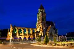 Fördärvar av St-Etienne-le-Vieux i Caen, Normandie, Frankrike Arkivbild