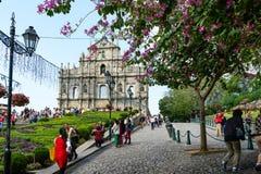Fördärvar av St Paul Macau Royaltyfri Foto