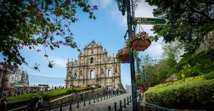 Fördärvar av St Paul Macau Royaltyfri Bild