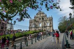 Fördärvar av St Paul Macau Fotografering för Bildbyråer