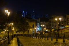 Fördärvar av St Paul ` s i Macao, nattetid Arkivbild