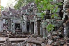 Fördärvar av Ta Phrom Royaltyfri Bild