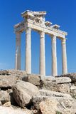 Fördärvar av templet av Apollo i sidan, Turkiet Royaltyfria Foton