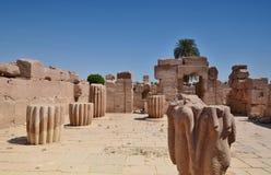 Fördärvar av templet av Karnak Luxor egypt Fotografering för Bildbyråer