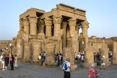 Fördärvar av templet av Kom Ombo lokaliserade 65 km söder av Edfu i Egypten Arkivfoton