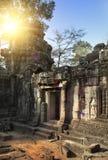 fördärvar av templet för Ta Prohm i Angkor Wat Siem Reap, Cambodja, det 12th århundradet Arkivbild