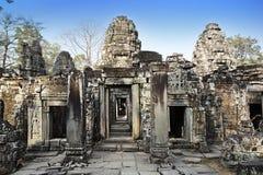 fördärvar av templet för Ta Prohm i Angkor Wat Siem Reap, Cambodja, det 12th århundradet Royaltyfria Foton