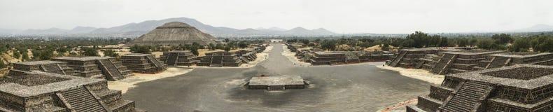 Fördärvar av Teotihuacan Royaltyfri Fotografi