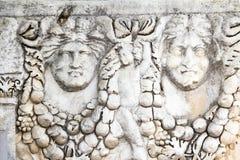 Fördärvar av tidigare Aphroditetempel royaltyfria foton
