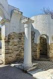 Fördärvar av tidigt den 10th århundraderundakyrkan av St John nära huvudstaden av den första bulgariska välden stora Preslav Arkivfoton