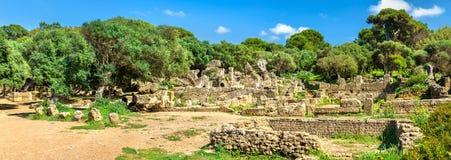 Fördärvar av Tipasa, en romersk colonia i Algeriet, Nordafrika royaltyfri bild