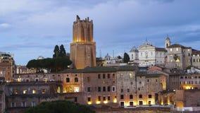 Fördärvar av Trajans forum i Rome, Italien Royaltyfria Bilder